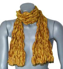 ECHARPE Michel Le BRUN pour femme made in France soie silk ocre vert jaune neuve
