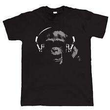 Chimp DJ, Mens Audiophile T Shirt - Vinyl Record Hi-Fi - Birthday Gift