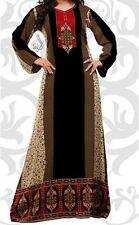 "VERY LONG DRESS CAFTAN | INDIAN KAFTAN | 58"" LONG DRESS | FREE SHIP | ABQ-BLACK"