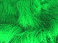 LONG Pile Fun Faux Fur Fabric Material - EMERALD GREEN