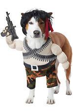 Brand New Action Hero Rambo Inspired Funny Pet Costume