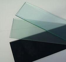GlasbodenScheibe 10mm klar satiniert schwarz 13 Größen 40 60 90cm OHNE Halterung
