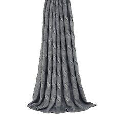 Riva Home De Lujo-Cable de punto de lanza mantas Metálico envuelve Sofa Covers