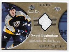 06/07 SWEET SHOT BEGINNINGS JERSEY RC Hockey /499 (#101-160) U-Pick from List