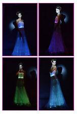 light up evening dresses glowing Long Evening Prom Dress elegant party wear