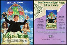 PASS THE AMMO__Original 1988 Trade Print AD movie promo__TIM CURRY__ANNIE POTTS