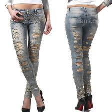 DISHE Handmade Damenjeans Jeans Hose Damenhose Hüftjeans Röhrenjeans 34-38 #D9