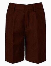 Classic Style BROWN School Shorts -  David Luke Brand