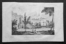 1834.Stampa/Acciaio=SAVOIA PIEMONTE-CHIESA-CASTELLO CHAMBERY Italie Pittoresque