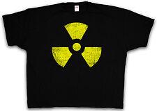 4XL & 5XL RADIOACTIVE LOGO T-SHIRT - Biohazard Gothic Sign T-Shirt XXXXL XXXXXL
