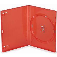 Unico standard RED DVD Case 14 MM SPINE NUOVO VUOTO RICAMBIO COPERTURA Amaray