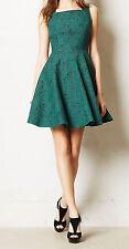 Eva Franco Jacquard Andrassy Dress Size 12 Green Motif NW ANTHROPOLOGIE Tag