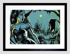 Dipinto Scena HORROR MOSTRO STALKER Foresta MOON Scream incorniciato stampa b12x7384
