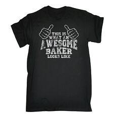 Che cosa impressionante Baker sembra T-shirt Torta Pane Pasticcere regalo di compleanno