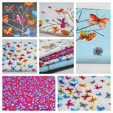 Mariposas Sobre llamado Flores De Tela De Algodón Elizabeth Studio