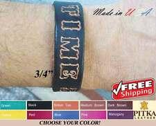 Leather Name Bracelets - Cuff Bracelets for Men - Bracelets for Women - medium