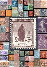 Timbres 1900-1921.Blanc,Mouchon,Merson,Semeuse,Orphelin de la guerre.N°107 à 161