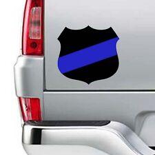 "Thin Blue Line Police Fallen Officer Badge Shield Vinyl Sticker Decal 15""w"