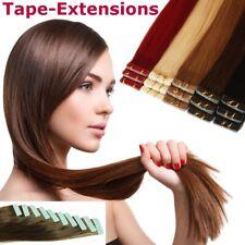 Tape In Hair Extensions Echthaar Strähnen Haarverlängerung mit ombre-Tönen