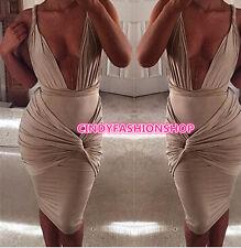 2017 New Sexy Women V-Neck Halter Tight Design Bandage Party Club wear Dress