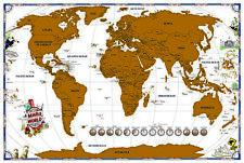 """Rubbelkarte Weltkarte Map 36"""" English Version Grösse 91,5x61 Neue Edition 2017"""
