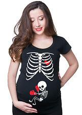 halloween skelett schwangerschaft boxing boxer baby röntgen tee shirt funny tee shirt