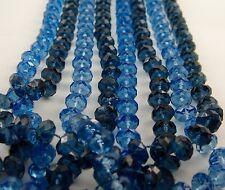 Largo tallado en Facetas Sintético COLLAR DE PERLAS 132cm Azul Sonidos AGUA Y