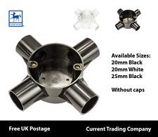 Centaur 20mm - 25mm PVC Tubo Protettivo 4 VIE Scatola Black & White