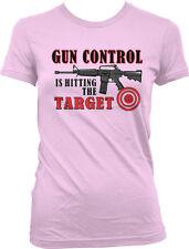 Gun Control Hitting Target  2nd Amendment FREE SHIPPING Juniors Girls T-shirt
