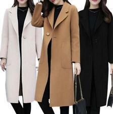 Hot Women Winter Warm Wool Lapel Trench Coat Jacket Casual Long Overcoat Outwear