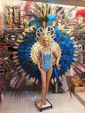 Da NeeNa C754 Ocean Angel Crystal Vegas Dance Wings Headdress Costume Set XS-XL