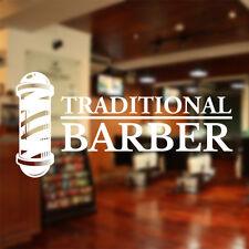 traditionnel Salon de coiffure décalque autocollant mural Fenêtre cheveux Fraise