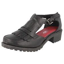 Spot on Damen Fransen Front Schuhe 'f9r728' schwarz synthetisch