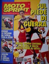 Motosprint 14 1995 Reggiani va fortissimo ma l'Aprilia pensa al ritiro. Cadalora