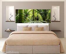 Sticker tête de lit décoration murale Forêt Bambous réf 3626 (5 dimensions)