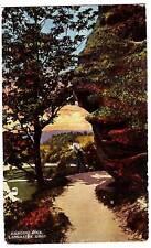 Old LANCASTER Ohio Postcard HANGING ROCK Man Fairfield