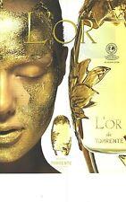 PUBLICITE ADVERTISING 2003   TORRENTE parfum L'OR