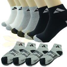 Adi 12 Pairs Ankle/Quarter Crew Mens Sport Socks Cotton Low Cut Size 9-11 10-13