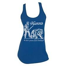 Hamm's Beer Bear Racerback Women's Tank Top Shirt Blue