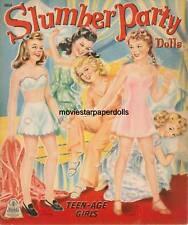Vintage Uncut 1947 Slumber Paper Dolls Hd~Laser Org Sz Reproduction~Lo Pr~Hiq