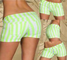SeXy Miss Damen Girly Hüft Hot Pant Shorts kurz Hose Panty L 38 XL 40 weiß grün