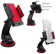 Genuine Imobile 360° In Car Phone Windscreen Dashboard Holder Mount RedBlack