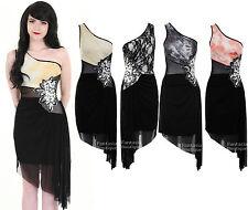 Ladies Sleeveless One Shoulder Lined Mesh Sequin Flower Women's Bodycon Dress