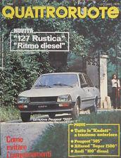Quattroruote 287 1979 Prove:Alfasud 1500,Peugeot 505.Novità:la 127 rustica