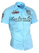 Viga reticulada de Luxe camisa polo shirt bordadas Stick camisa para hombre manga corta 80603 turquesa