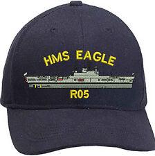 HMS EAGLE Ships Profile Embroidered Baseball Caps & Beanies