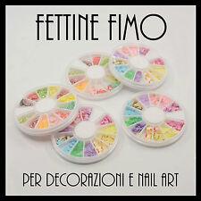 RUOTA FETTINE FIMO decorazioni nailart materiale creativo fai da te bijoux
