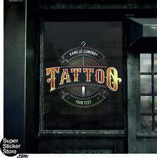 Tattoo Studio Window Stickers Wall Decal Vinyl Art Logo Advertising Retail Shop