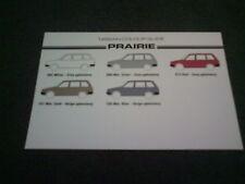 Menta de agosto de 1984/1985 Nissan Prairie Reino Unido Folleto-tabla de Color