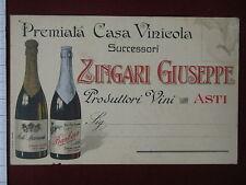 ASTI-Premiata Casa Vinicola ZINGARI-no viag,anni20#6682